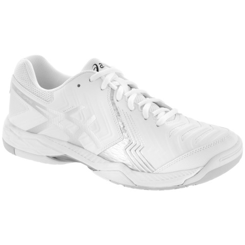7fcb4995658f9 Asics Gel Game 6 Men s Tennis Shoe (White Silver). Our Price    69.95