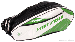 Harrow Dynasty Racquet Bag (White/Kelly Green)