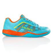 Salming Adder Junior Shoe (Turquoise/Shocking Orange)