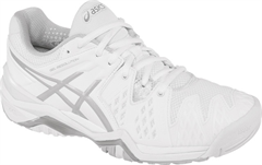 NEW Asics Resolution 6 Women's Tennis Shoe (White/Silver)