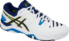 Asics Challenger 10 Men's Tennis Shoe (White/Lime/Indigo Blue)