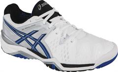 Asics Resolution 6 Men's Tennis Shoe (White/Blue/Silver)