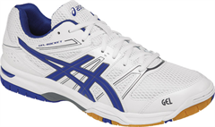 NEW Asics Gel Rocket 7 Men's Shoe (White/Asics Blue/Titanium)