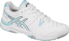 NEW Asics Challenger 10 Women's Tennis Shoe (White/Crystal Blue/Blue Steel)