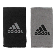 Adidas Interval Reversible Double Wristbands (Black/Grey)