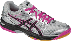 NEW Asics Gel Rocket 7 Women's Shoe (Silver/Black/Pink Glow)