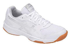 NEW Asics Gel Upcourt 2 Women's Shoe (White/Silver)