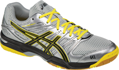 NEW Asics Gel Rocket 7 Men's Shoe (Silver/Onyx/Neon Yellow)