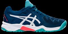 Asics Gel Resolution 8 GS Junior Shoe (Mako Blue/White)