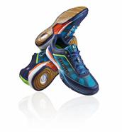 NEW 2016 Salming Viper 2.0 Men's Shoe (Navy/Cyan)