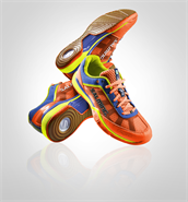 NEW 2016 Salming Viper 3.0 Men's Shoe (Orange)
