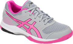 NEW Asics Gel Rocket 8 Women's Shoe (Mid Grey/Pink Glow)