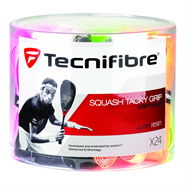 Tecnifibre Squash Tacky Replacement Grip - Tub of 24