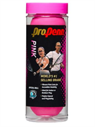 Pro Penn Pink High Visibility Racquetball-3 Ball Can