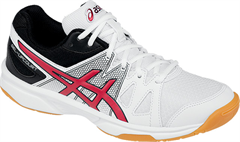 NEW Asics Gel Upcourt GS Junior Shoe (White/Racing Red/Black)