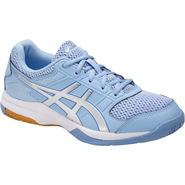 NEW Asics Gel Rocket 8 Women's Shoe (Airy Blue/Silver/White)