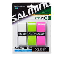 Salming X3M Sticky Overgrips (White/Green/Pink) 3 Pack