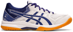 Asics Gel Rocket 9 Women's Shoe (White/Dive Blue)