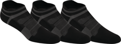 Asics Quick Lyte Cushion Single Tab Unisex Socks (3 Pack Black/Dark Grey)
