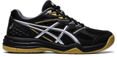 Asics Gel Upcourt 4 GS Junior Shoe (Black/Pure Silver)