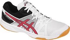 NEW Asics Gel Upcourt Men's Shoe (White/Racing Red/Black)