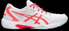 Asics Gel Rocket 10 Women's Shoe (White/Sunrise Red)