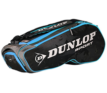 NEW Dunlop Performance 8 Racquet Bag (Black/Blue)