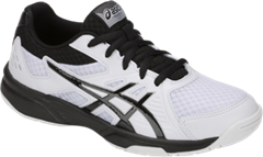 NEW Asics Gel Upcourt 3 GS Junior Shoe (White/Black)
