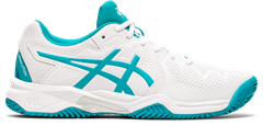 Asics Gel Resolution 8 GS Junior Shoe (White/Lagoon)