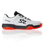 Salming Hawk Court Men's Shoe (White/Black/Flame Red)