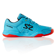 Salming Hawk Court Junior Shoe (Blue Atol/Flame Red)