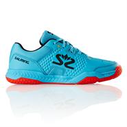 Salming Hawk Court Junior Shoe (Blue Atol/Flame Red)
