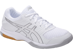 NEW Asics Gel Rocket 8 Women's Shoe (White/Silver/White)