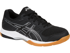 NEW Asics Gel Rocket 8 Women's Shoe (Black/Black/White)