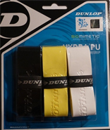 Dunlop Biomimetic Hydra PU Overgrip (Black/Yellow/White)
