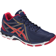 NEW Asics Gel-Netburner Ballistic MT Men's Shoe (Indigo Blue/Prime Red/Rich Gold)