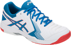 Asics Gel Game 6 Men's Tennis Shoe (White/Race Blue)