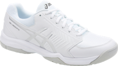 Asics Gel Dedicate 5 Men's Tennis Shoe (White/Silver)