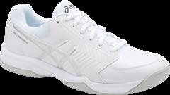 Asics Gel Dedicate 5 Men's Tennis Shoe (White/Silver)