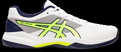 Asics Gel Game 7 Men's Tennis Shoe (White/Safety Yellow)