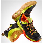 NEW Salming Kobra Men's Shoe (Black/Shocking Orange)
