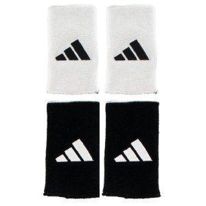 Adidas Interval Reversible Double Wristbands (White/Black)