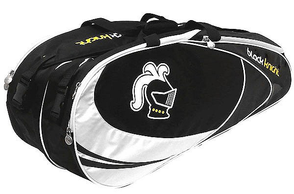 NEW Black Knight Double Racquet Bag (Black/White)
