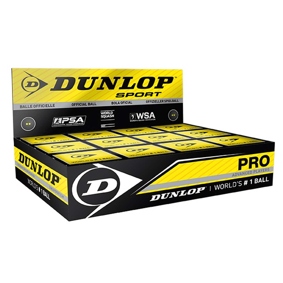 Dozen Dunlop Pro Double Yellow Dot Balls