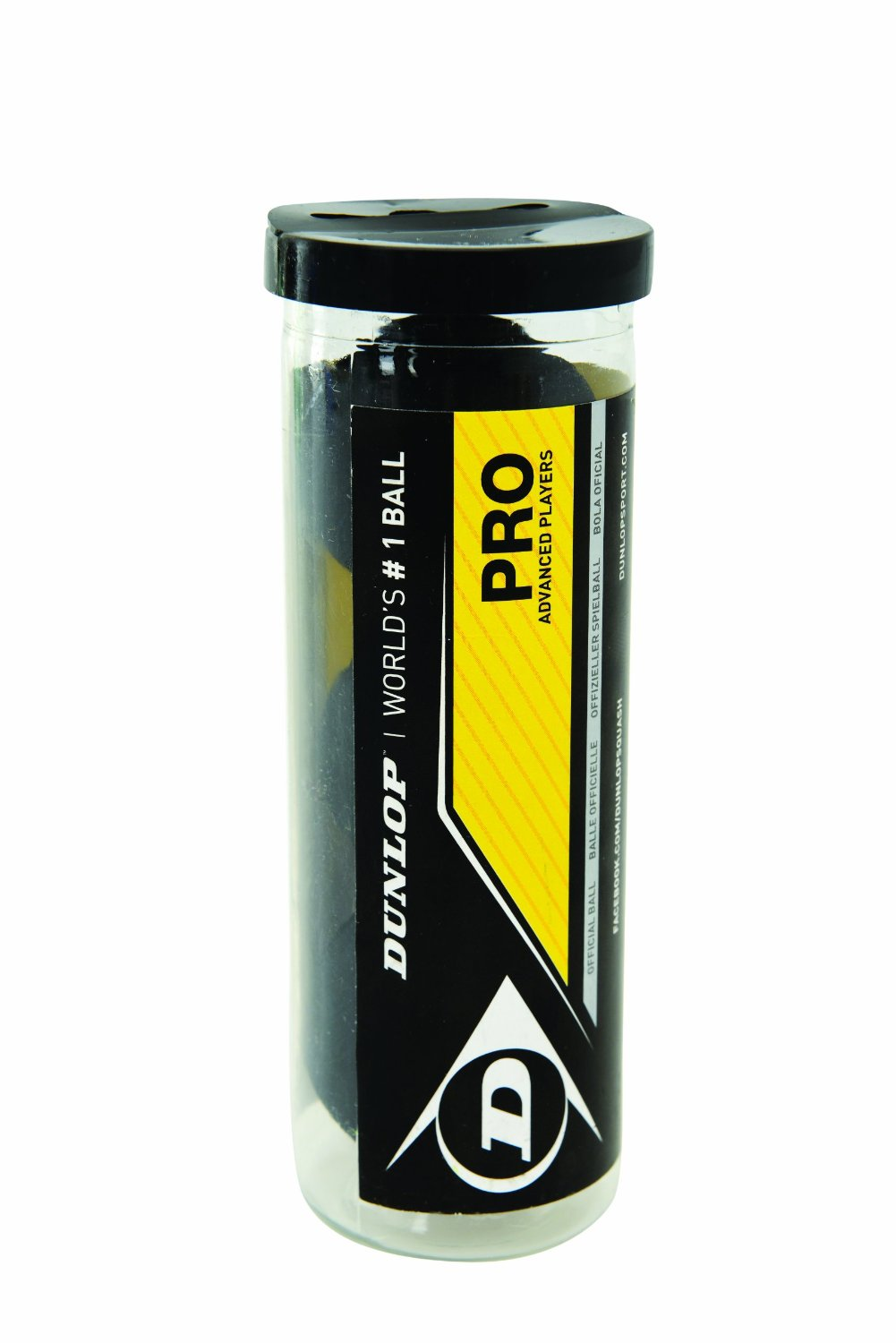 Dunlop Pro Double Yellow Dot Balls (3 Ball Tube)