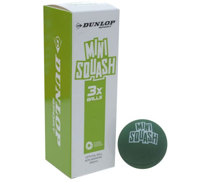 Dunlop Mini Squash Ball Green (3 Pack)