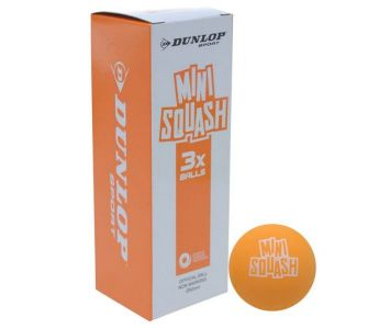Dunlop Mini Squash Ball Orange (3 Pack)
