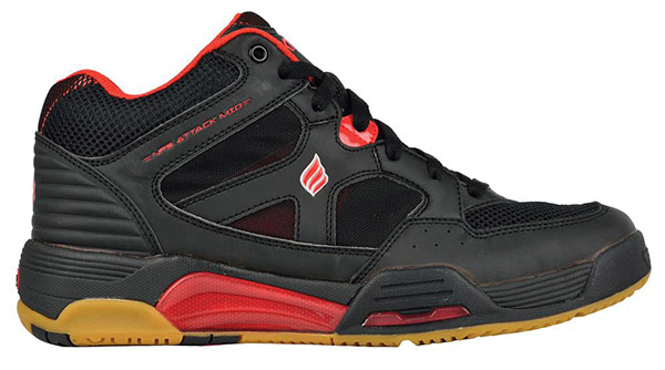 NEW Ektelon NFS Attack MID Indoor Men's Shoe (Black/Red)