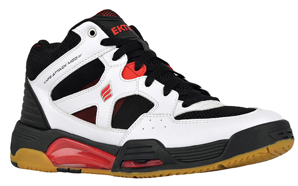 NEW Ektelon NFS Attack MID Indoor Men's Shoe (White/Black/Red)