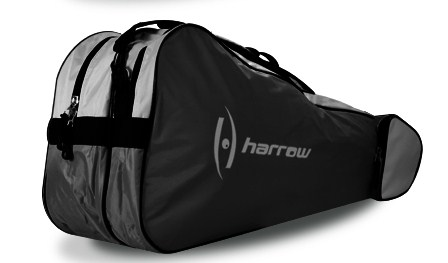 Harrow 3 Racquet Bag (Black/Silver)